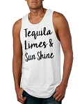 Tequila, Limes & Sunshine.  Men's Tank Top